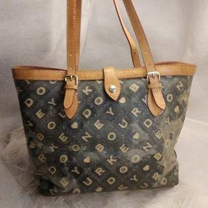 Poor condition grey Dooney & Bourke purse handbag